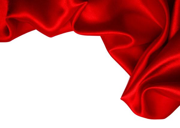 精美的红色丝带稠缎飘动图片素材_高清图片