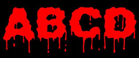 恐怖片专用流血英文字体设计模板