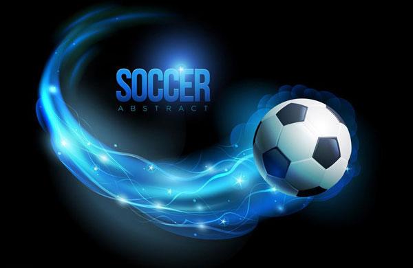 梦幻动感足球比赛运动海报背景设计图